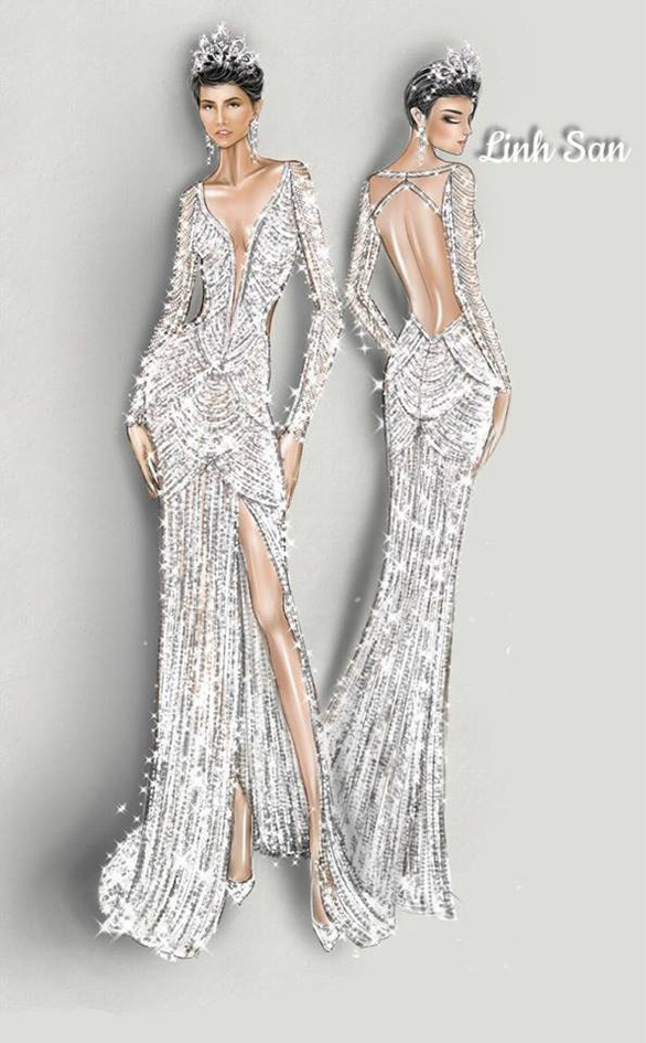 Áo dạ hội đính 3.000 viên đá quý của HHen Niê tại Miss Universe - Ảnh 2.