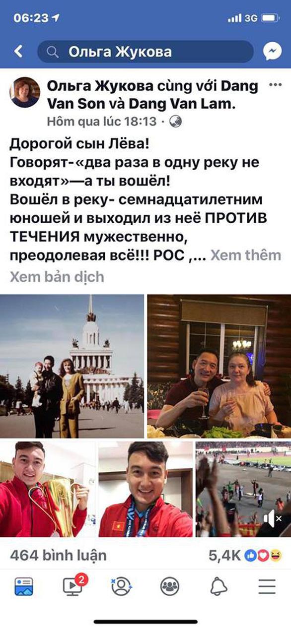 Bức thư của người mẹ Nga: Cảm ơn tất cả những ai đã tin tưởng Liova - Đặng Văn Lâm! - Ảnh 2.
