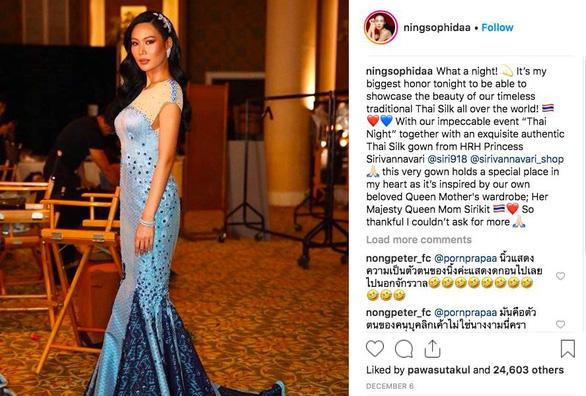 Có thể ngồi tù vì chê váy dạ hội Miss Universe của công chúa Thái - Ảnh 1.