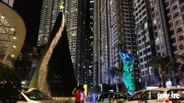 Ngắm thông Noel rực rỡ phố Sài Gòn - Ảnh 2.