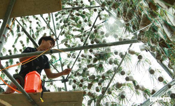 Độc đáo cây thông Noel 'khủng' làm từ 8.000 giỏ hành - Ảnh 6.