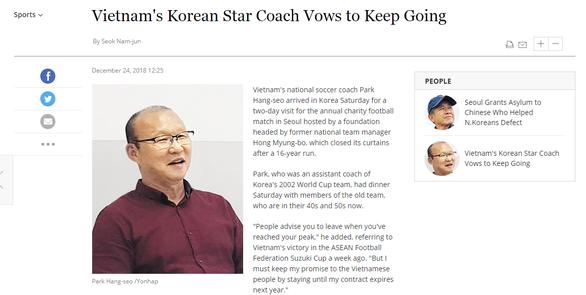 HLV Park nói với báo Hàn: Tôi phải giữ lời hứa với người dân Việt Nam' - Ảnh 1.