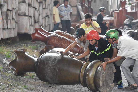 Cháy lớn ở xưởng kinh doanh pallet gỗ gần ngã tư Vũng Tàu - Ảnh 7.