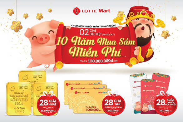 Lotte mart gửi trao khách hàng hàng ngàn món quà - Ảnh 1.