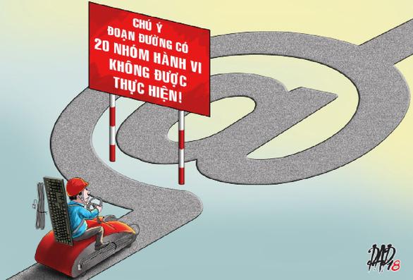 Từ 1-1-2019: cấm 20 nhóm hành vi trên mạng - Ảnh 1.