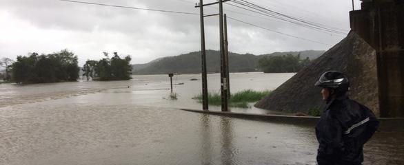 Phú Yên: Mưa lũ ngập đường, hàng ngàn hecta ruộng mất giống - Ảnh 1.