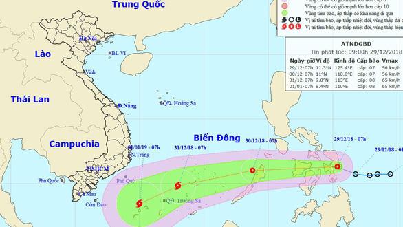Áp thấp nhiệt đới đang tiến vào Biển Đông - Ảnh 1.