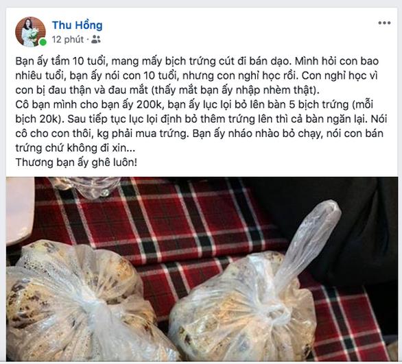 Cậu bé bán trứng bỏ chạy khi khách cho tiền khiến dân mạng rưng rưng - Ảnh 2.