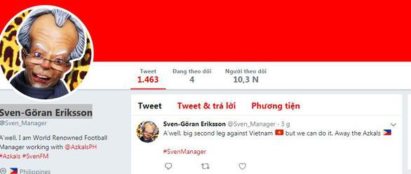 HLV Eriksson viết status đầu tiên trước trận lượt về với Việt Nam - Ảnh 1.