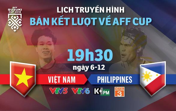 Lịch trực tiếp bán kết lượt về AFF Cup: Chờ Việt Nam vào chung kết - Ảnh 1.