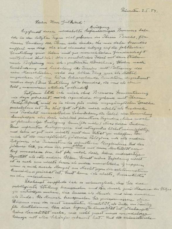 'Thư về Chúa' của Albert Einstein bán đấu giá được gần 3 triệu USD - Ảnh 1.