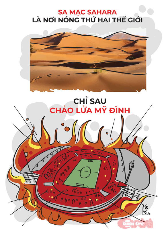 Biếm họa từ chảo lửa Mỹ Đình - Ảnh 1.