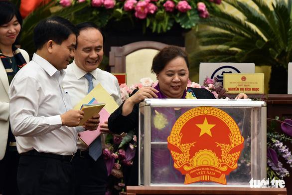 Bà Nguyễn Thị Bích Ngọc dẫn đầu số phiếu tín nhiệm cao của HĐND Hà Nội - Ảnh 1.