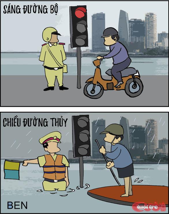 Đà Nẵng ngập qua tranh biếm họa - Ảnh 4.