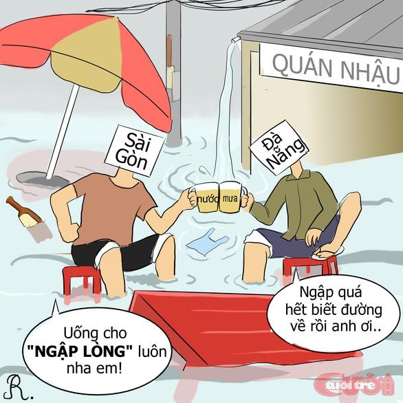 Đà Nẵng ngập qua tranh biếm họa - Ảnh 6.
