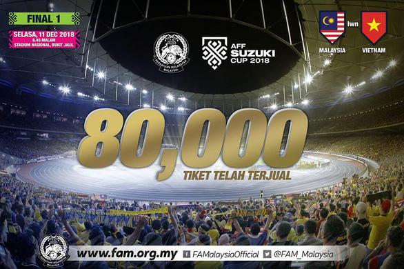 Malaysia xin lỗi vì chỉ có... 80.000 vé để bán - Ảnh 1.