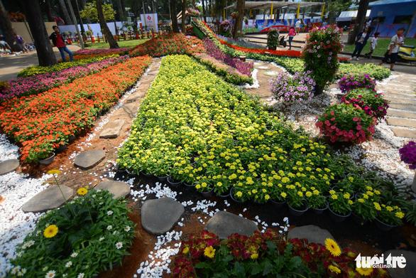 Hội hoa xuân Tao Đàn đã mở cửa đợi khách thưởng hoa - Ảnh 3.