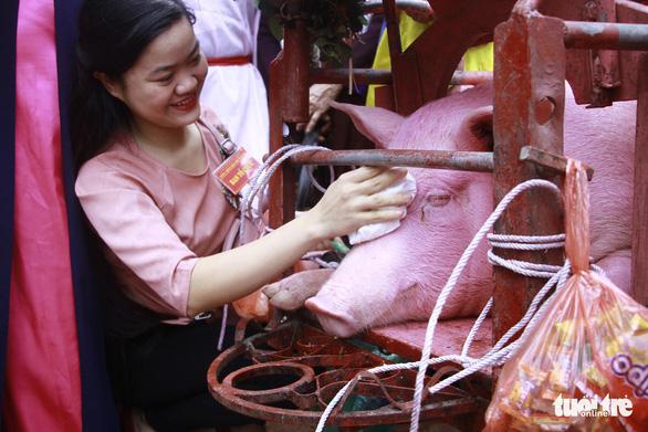 Không còn cảnh máu me ở lễ hội Chém lợn Ném Thượng - Ảnh 2.