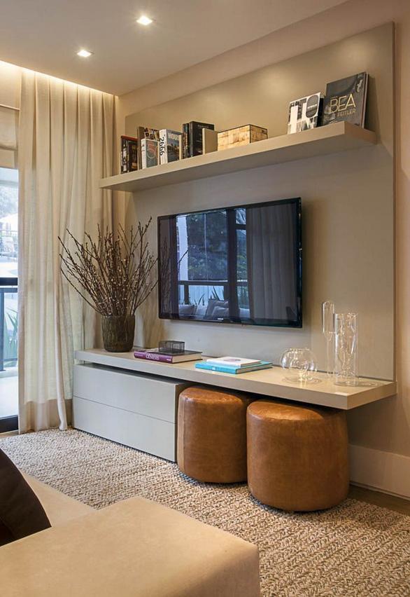 10 kiểu trang trí tivi để phòng khách đẹp hơn - Ảnh 5.