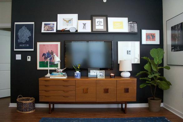 10 kiểu trang trí tivi để phòng khách đẹp hơn - Ảnh 10.