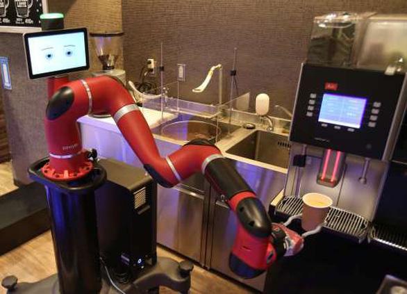 Robot pha cà phê trong tiệm mới khai trương tại Tokyo - Ảnh 2.
