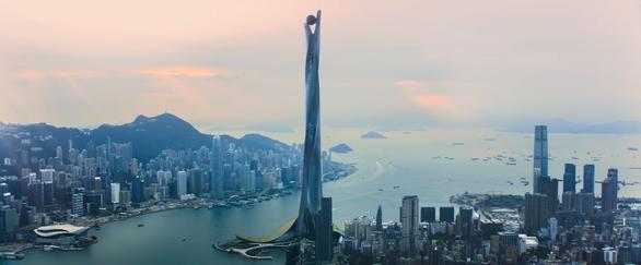 Thót tim với màn đu người trên không trong bom tấn Skyscraper - Ảnh 3.