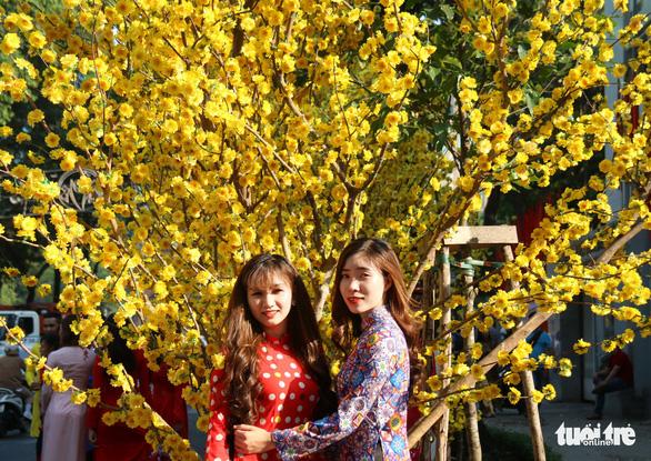 Thiếu nữ Sài Thành rạng rỡ du xuân với áo dài cổ điển - Ảnh 2.