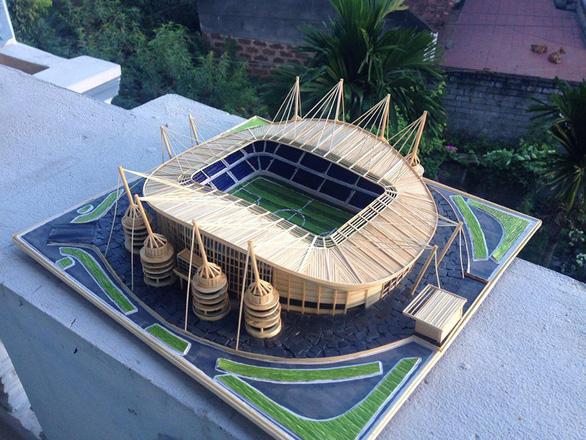 Mù bóng đá vẫn làm mô hình sân vận động tuyệt đẹp - Ảnh 5.
