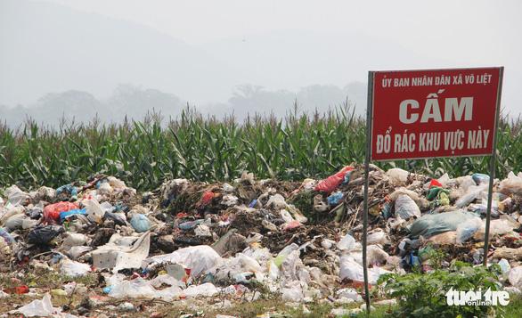 Bãi bồi sông Lam ngập rác, dân kêu trời vì ruồi - Ảnh 4.