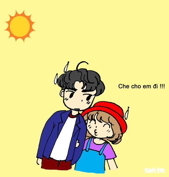 Hí họa Sài Gòn nắng nóng: 5 kiểu tránh nóng của bạn trẻ - Ảnh 4.