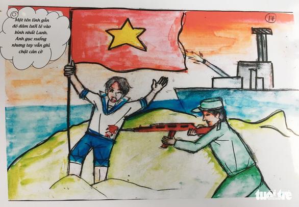 Hai nữ sinh dành bảy tháng vẽ truyện tranh lịch sử về Gạc Ma - Ảnh 4.