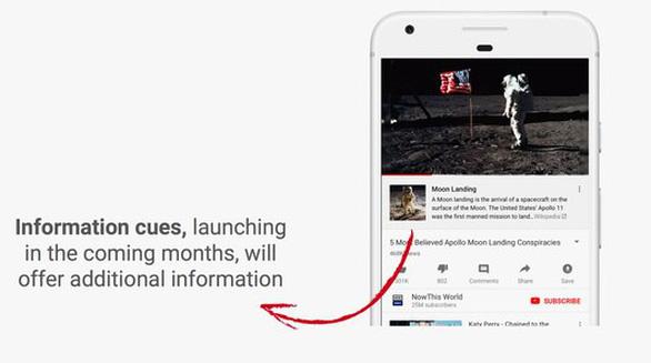 Ngăn ngừa thuyết âm mưu, YouTube kết nối với Wikipedia - Ảnh 2.