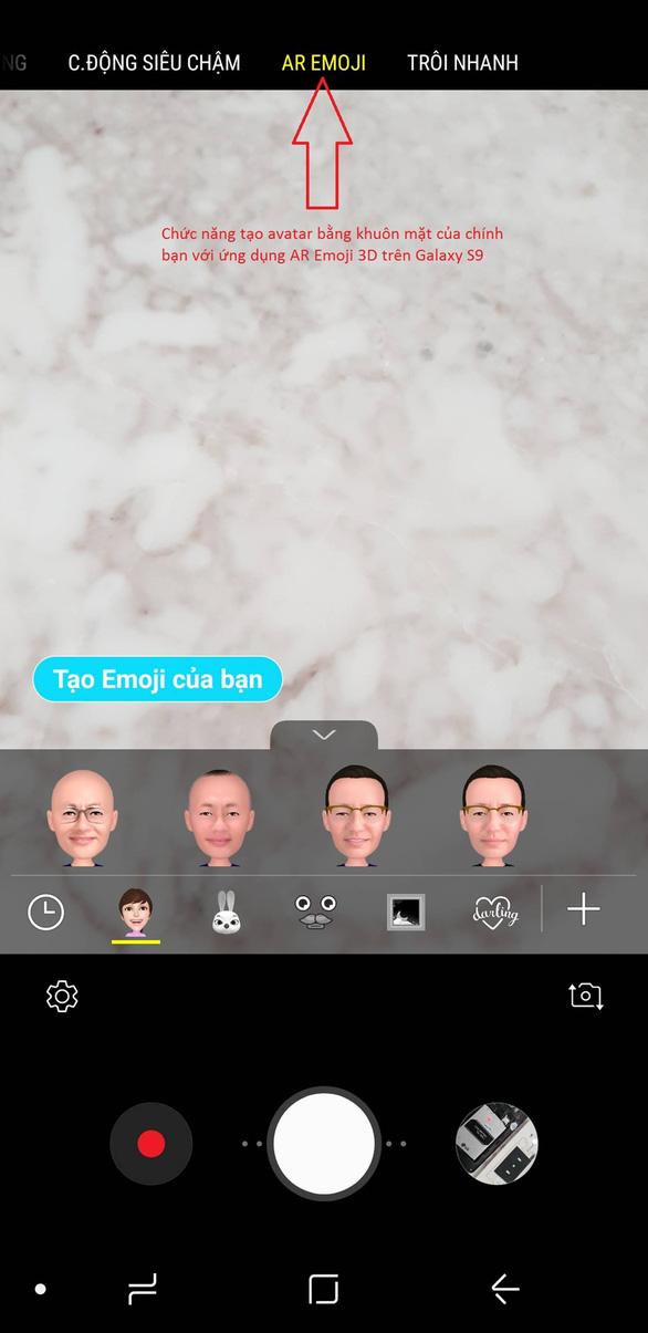 Trào lưu AR Emoji và hướng dẫn cách tạo avatar vui nhộn trên Galaxy S9 - Ảnh 3.