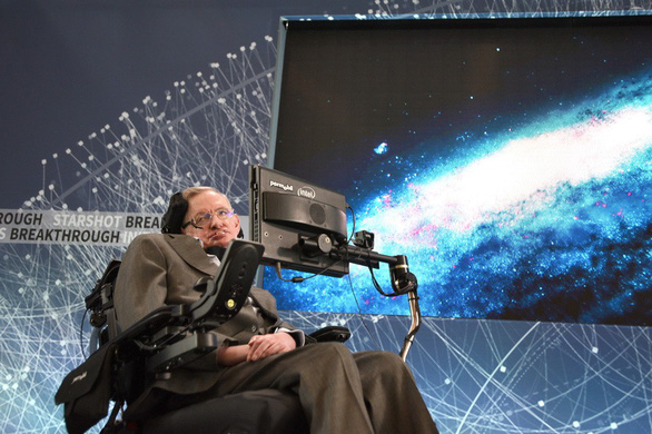 stephen hawking at one world observatory on april 12, 2016 in new york city