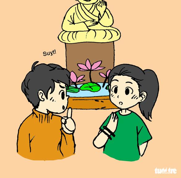 Hí họa: những điều nên tránh khi đi lễ hội, chùa chiền - Ảnh 6.