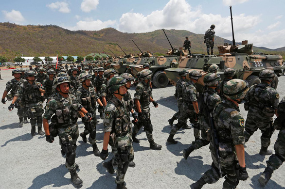 Tập trận 'Rồng vàng' cùng Trung Quốc, Campuchia càng xa Mỹ - Ảnh 1.