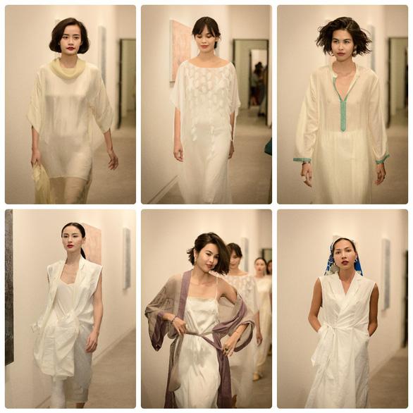 Li Lam ra mắt bộ thiết kế Lam Blanc cảm hứng từ sen trắng - Ảnh 1.