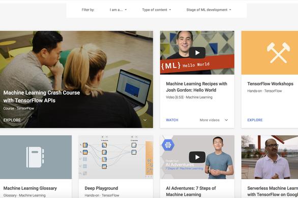 Google mở khóa học online miễn phí về AI và machine learning - Ảnh 1.
