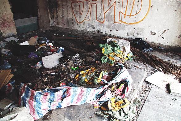 Chung cư bỏ hoang giữa lòng Hà Nội ngập tràn rác thải - Ảnh 8.