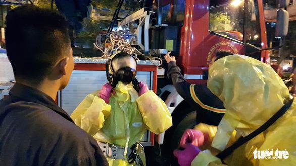 Cảnh sát cứu hỏa phá bốn tổ ong mật trên cây cao trong đêm - Ảnh 2.