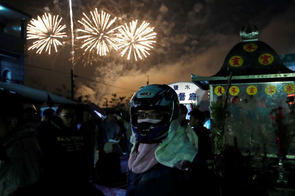 Lễ hội pháo hoa Tổ ong Diêm Thủy ở Đài Loan - Ảnh 4.