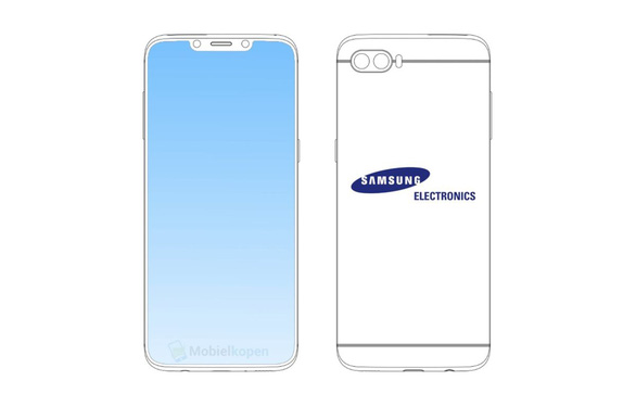 Samsung đăng ký bản quyền màn hình tai thỏ trên điện thoại  - Ảnh 1.
