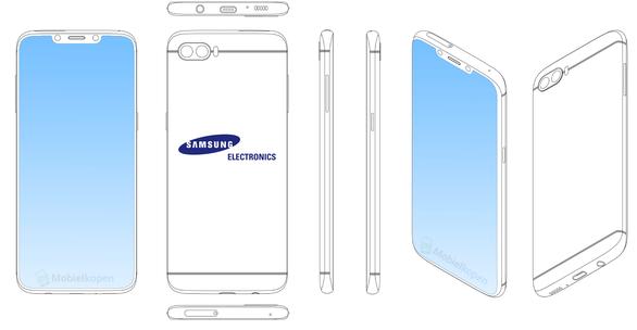 Samsung đăng ký bản quyền màn hình tai thỏ trên điện thoại  - Ảnh 3.