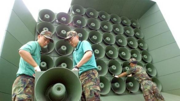 Hàn Quốc ngừng phát thanh tuyên truyền vào Triều Tiên - Ảnh 1.