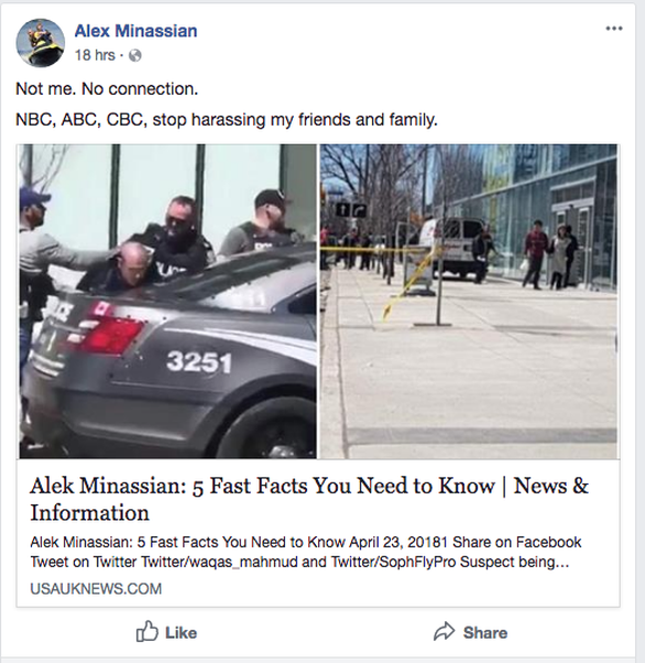 Báo chính thống lại dính tin giả trong vụ lao xe làm 10 người chết ở Canada - Ảnh 1.