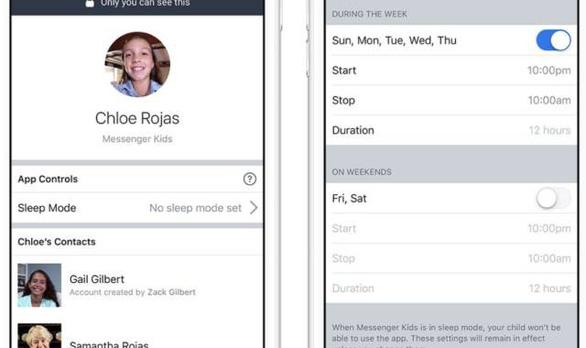 Facebook có thêm nút 'đi ngủ' cho ứng dụng Messenger Kids - Ảnh 1.