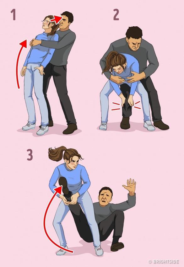 7 chiêu tự vệ đơn giản cho các nàng khỏi yêu râu xanh - Ảnh 7.