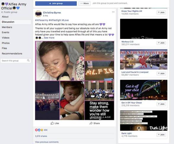 Facebook sửa thuật toán, tạo ra đội quân nửa triệu người cứu bé Alfie Evans - Ảnh 2.