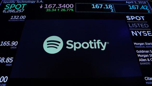 Phiên phát hành cổ phiếu đầu tiên của Spotify thắng lớn - Ảnh 1.