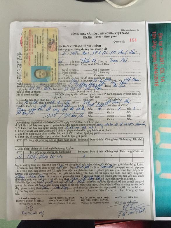 Cảnh sát giao thông Thanh Hóa phủ nhận chuyện làm khó người vi phạm - Ảnh 3.